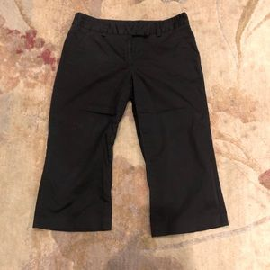 Apostrophe stretch black Capri pants sz 8